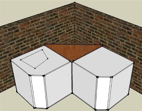 Augmentation de la sensibilité de deux caisson de basse, couplage en V dans un angle.