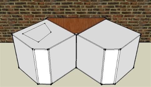 Augmentation de la sensibilité de deux caisson de basse, couplage en V face à un mur.