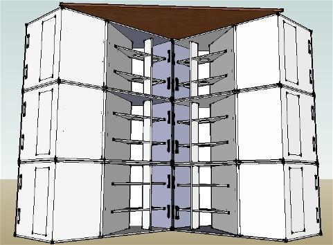 Augmenter la sensibilité de caissons de basse à pavillon par un couplage en V et un empilement